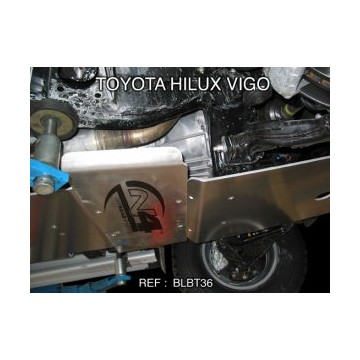 Protector caja de cambios Duraluminio 8mm de N4 para Toyota Hilux Vigo desde 05