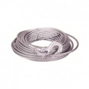 Cable acero 5mm x 15m con  gancho