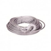 Cable acero 6mmx15m con gancho , sin casquillo