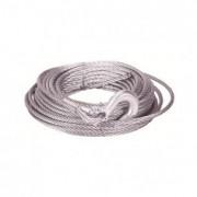Cable acero 12mmx25m con gancho y punta soldada