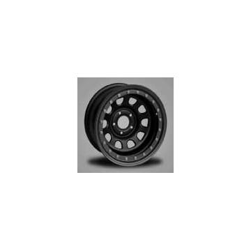 """llanta acero negra anti-desllante 7x15"""" et -25 simulado para jeep"""