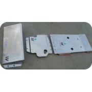 Protector Cambio Transfer Duraluminio 6mm ALMONT4WD para Nissan Navara D40
