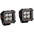 Juego faros LED larga distancia, 48 W., 743 LUX (10m), 4 bombillas
