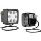 Faro trabajo LED WESEM- 2500lm, 12-24V, 29W, 10X10cm IP68 con soporte trasero (50º campo estrecho)