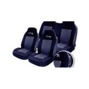 Fundas de lona individuales para asientos delanteros en negro y gris