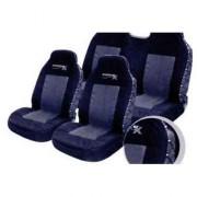 Juego de fundas de lona completo para asientos delanteros y traseros en negro y gris