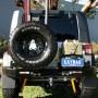 Soporte jerrycan simple izquierda/derecha Kaymar para  Jeep Wrangler JK