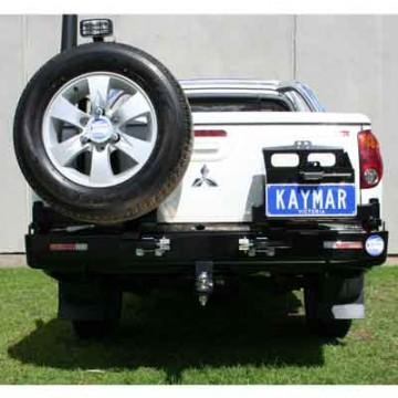 Parachoques trasero Kaymar para Mitsubishi L200 + 06 caja corta