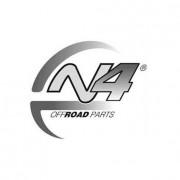 Protección Puente Trasero y Escape Duraluminio 8mm de N4 para Land Rover Discovery III