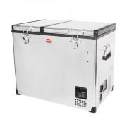 Nevera - Congelador SNOMASTER Classic Series Acabado Inox 72L (DUAL) 40/32L