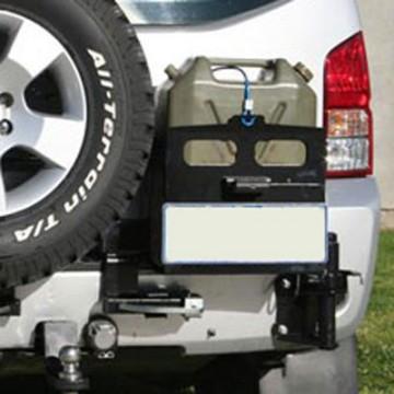 Soporte jerrycan doble derecha  Kaymar para Nissan Pathfinder R51