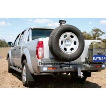 Soporte jerrycan simple derecha Kaymar para Nissan  Navara D40