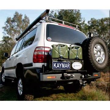 Soporte de rueda izquierda Kaymar en parachoques de serie para  Toyota  HZJ105