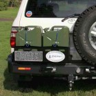 Soporte jerrican doble izquierda Kaymar para Toyota  HZJ105