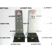Protector Amortiguadores Duraluminio ALMONT4WD para Toyota serie 90 120 150 FJcruiser Kit 2 Unidades