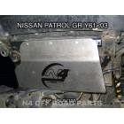 Protección delantera Duraluminio 8mm de N4 para Nissan Patrol GR Y60