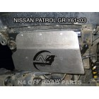 Protección delantera Duraluminio N4-OFFROAD 8mm para Nissan Patrol GR Y60. Del 1988 al 1998