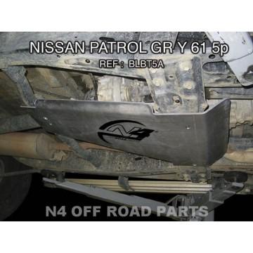 Cubretransfer Duraluminio 8mm de N4 para Nissan Y60 5P
