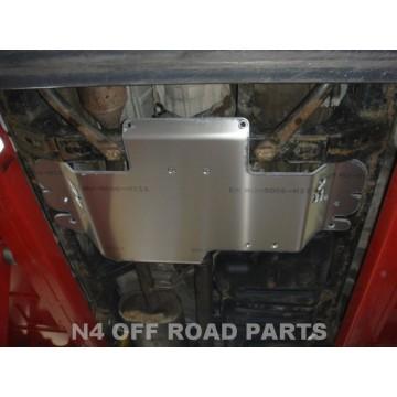 Protector caja de cambios Duraluminio 8mm de N4 para Toyota Land Cruiser serie 12 KDJ 120 / 125